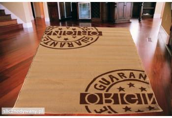 Dywan nowoczesny do salonu ORIGINAL Beżowo Brązowy CITY
