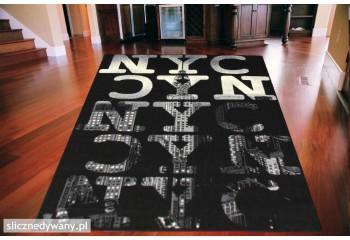 Dywan młodzieżowy Nowy Jork Panorama NYC Czarny CITY