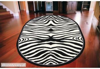 Dywan do salonu Zebra Czerń...