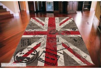 Dywan nowoczesny do salonu BRITISH POSTCARD ALFA