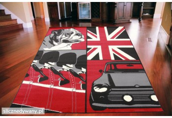 Dywan Brit Empire BLACK RED...