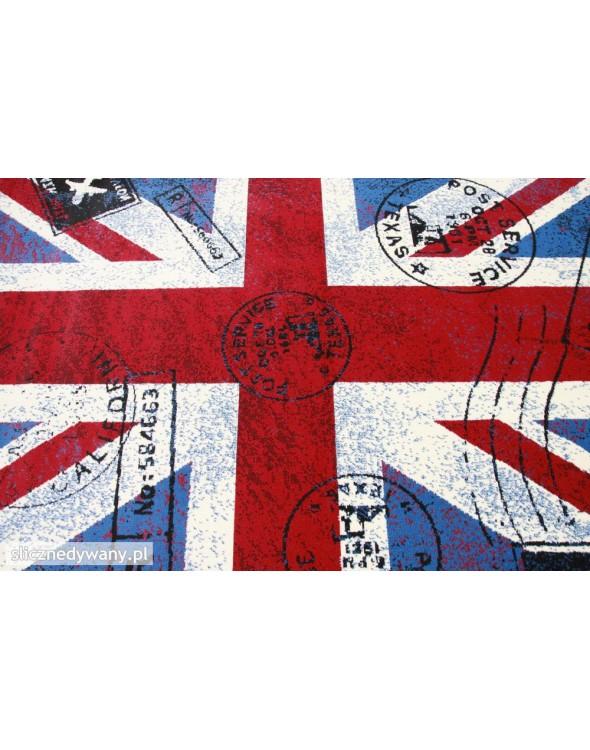 Ciekawe wzornictwo flagi Wielkiej Brytanii.