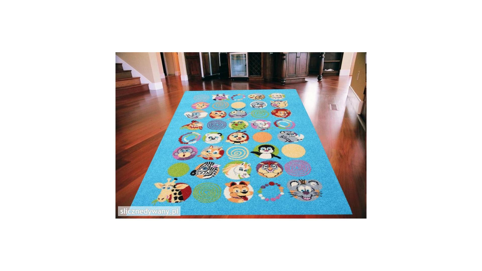 Przepiękny dywan do pokoju dziecięcego.