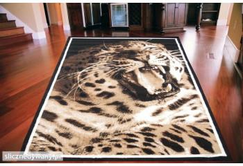 Dywan nowoczesny do salonu LEOPARD Czerń NAIROBI