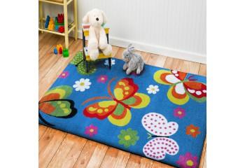 Dywan dla dzieci Motylki 14 Niebieski Kids MONDO