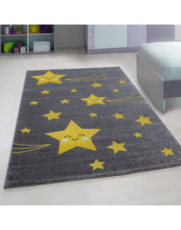 Dziecięce dywany   Kolorowe motylki żółty dywan dla dzieci