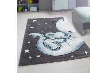 Dywan dla dzieci ŚPIĄCY SŁONIK Szaro-Niebieski KIDS DZIDZIA