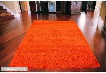 Dywan nowoczesny do sypialni Shaggy Pomarańcz Orange Frisee