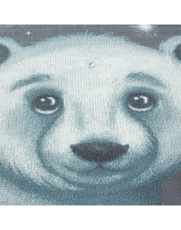 Słodki Misiaczek oraz cudowne gwiazdki to wymarzony dywan dla każdego dziecka.