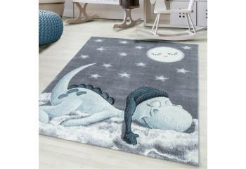 Dywan dla dzieci ŚPIĄCY SMOCZEK Szaro-Niebieski BAMBINO