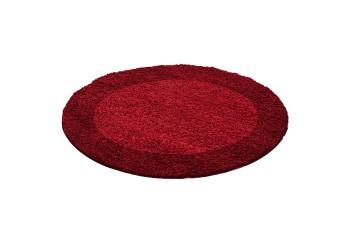 Dywan do salonu i sypialni Shaggy Czerwony Koło LITE