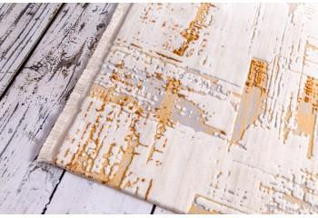 Dywan do salonu ekskluzywny akrylowy ITALIA Kremowo Złoty PRINCE