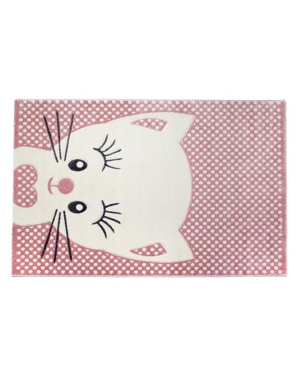 Przepiękny dywanik dla dziewczynki. Różowo kremowy