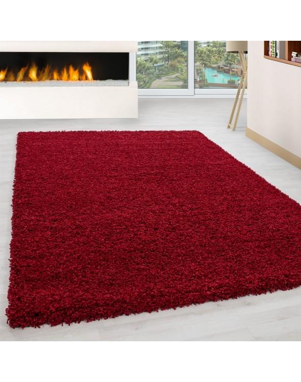 Piękne czerwone odcienie dywanu.