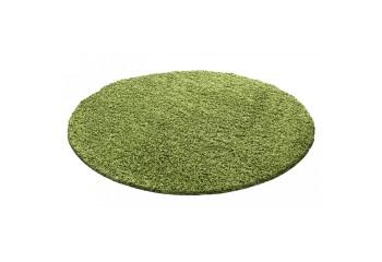 Dywan do salonu i sypialni Shaggy Jednokolorowy Zielony Koło LITE
