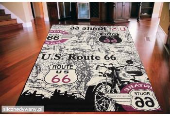 Dywan Motor Route 66 RÓŻOWY...