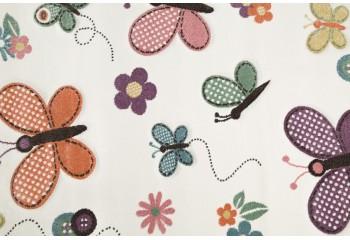 Super dywan pokojowy dziecięcy w bajkowe motyle.