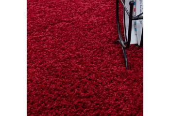 Dywan do salonu i sypialni Shaggy Kudłacz DREAMER Jednokolorowy Czerwony
