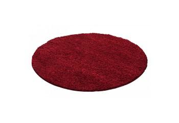 Dywan do salonu i sypialni Shaggy Kudłacz DREAMER Jednokolorowy Czerwony Koło