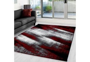 Dywan nowoczesny do salonu i sypialni Cienie LAMI Czerwony