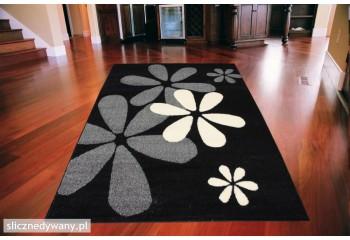 Dywan nowoczesny do salonu SŁONKO Czarno Biały ALFA