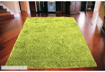 Dywan do salonu, sypialni Zielony Grass SHAGGY Fresee
