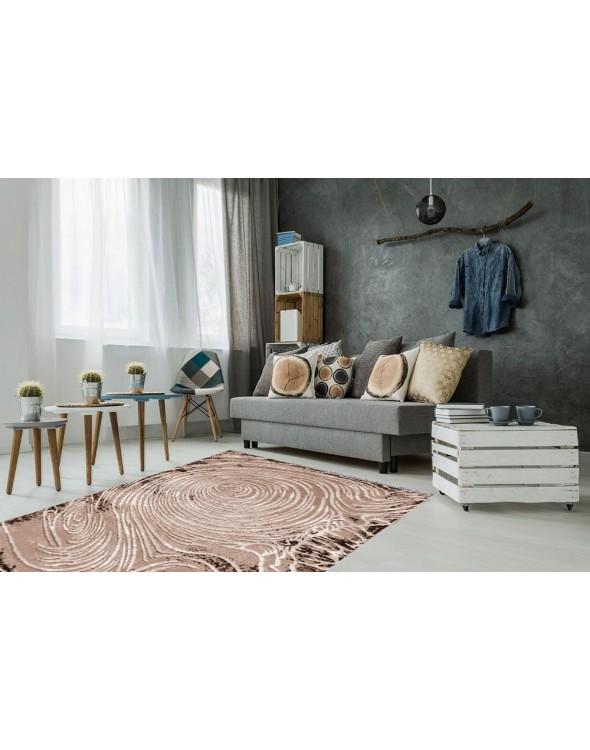 Nowoczesny dywan do salonu, miękki i przyjemny w dotyku.