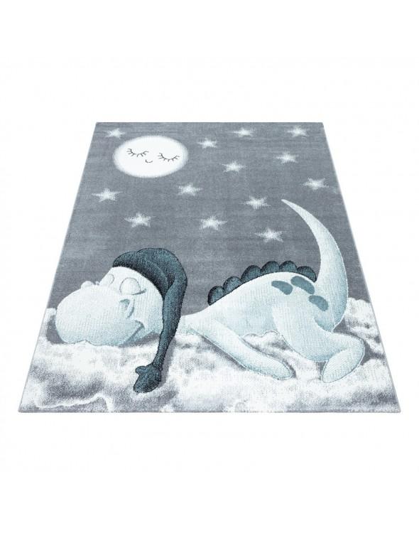 Dywan z przepięknym śpiącym smoczkiem idealnie pasuje w pokoju dziecięcym.