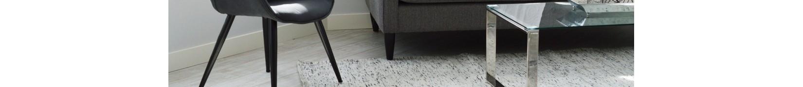 Nowoczesne dywany szaro czarno białe do salonu, pokoju młodzieżowego