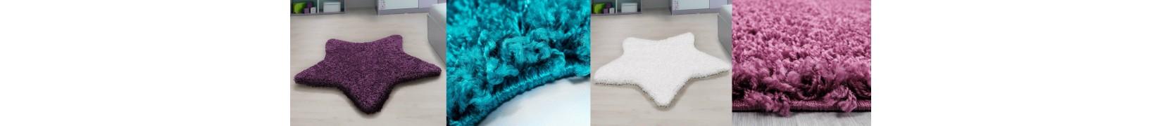 Piękne, modne gwiazdkowe dywany Shaggy
