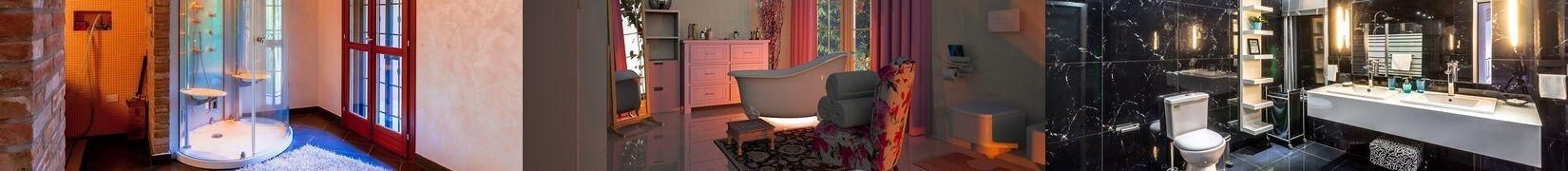 Wytrzymałe, antypoślizgowe dywaniki do łazienki.