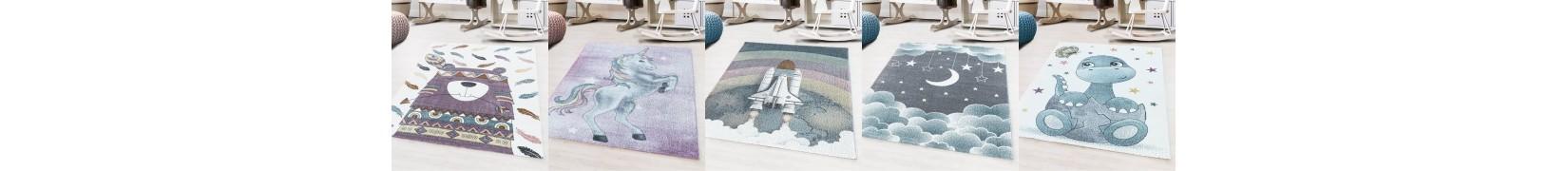 Dywany kolorowe dziecięce dla chłopca i dziewczynki.