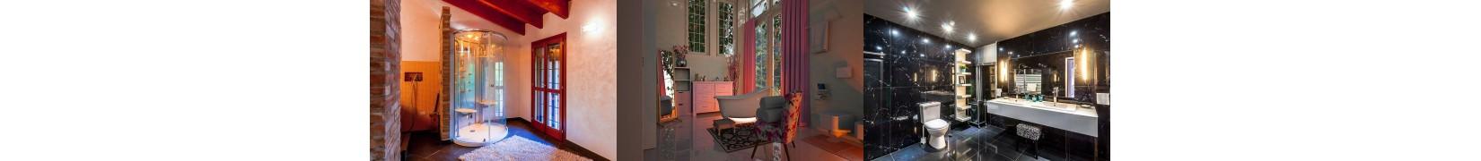 Home decor do łazienki. Dywaniki, półki, szafki, szlafroki, ręczniki