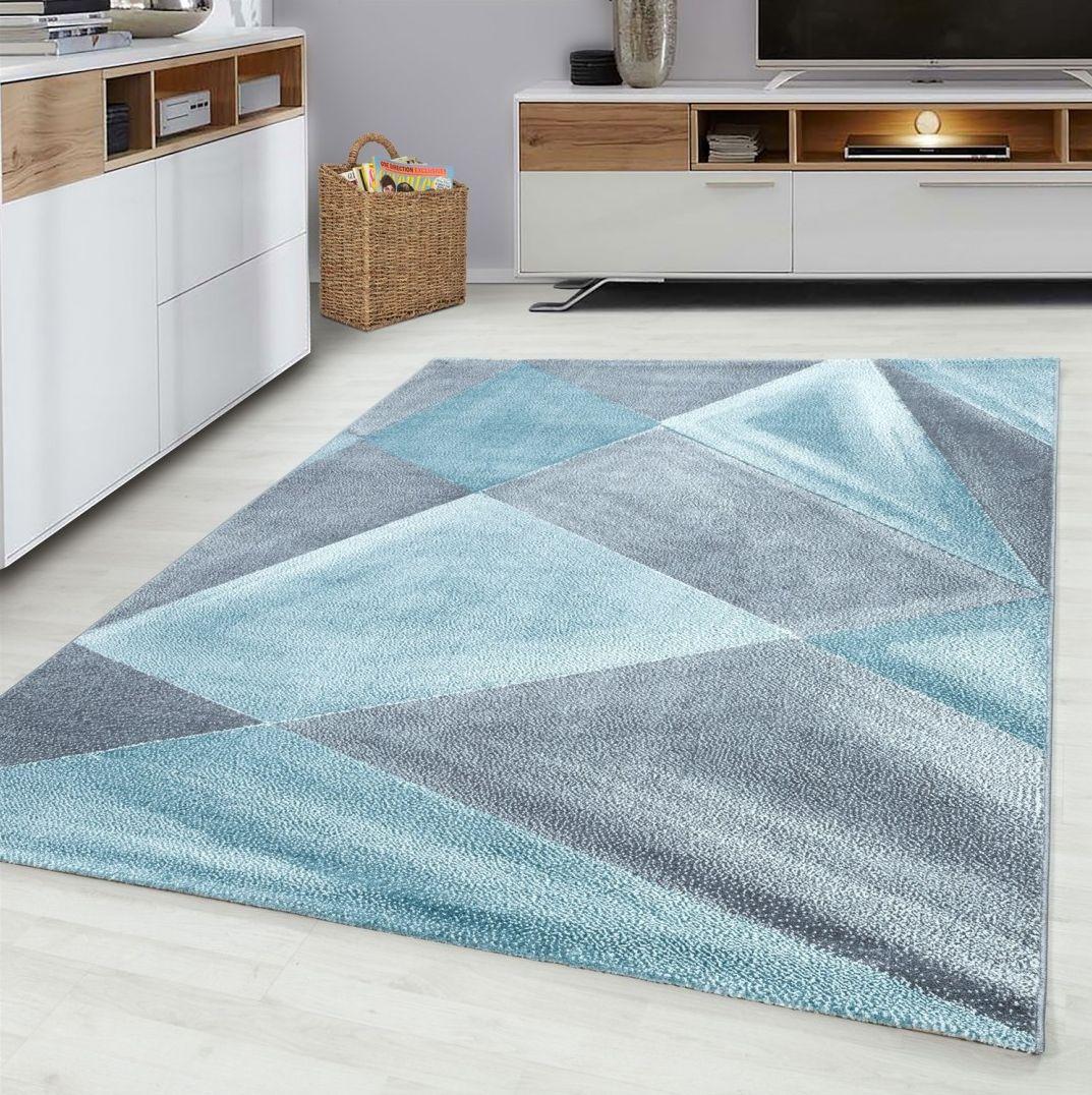 Piękny szaro turkusowy dywan ZARA